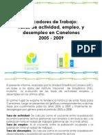 Informe Tasas de Act Emp Desemp 2005 a 2009