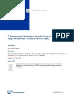 FI Enhancement Technique  Business Transaction Events (BTE).Doc