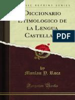 Diccionario Etimologico de La Lengua Castellana