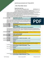 Finals 50m Pistol Men - Commands and Announcements - Edition 2015
