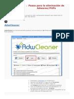 Pasos Para La Eliminación de Adwares