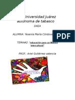 Tarea 2eduacion Para Un Mexico Intercultural
