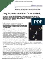 """Página_12 __ Universidad __ """"Hay Un Proceso de Inclusión Excluyente"""""""