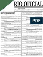 Exoneração Diario Oficial 20-06-2015