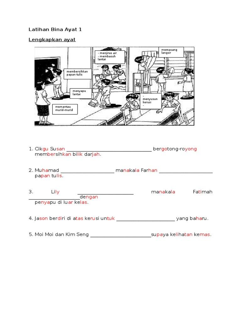 Latihan Bina Ayat Berdasarkan Gambar