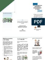 Folleto de Divulgacion Subprograma de Medicina Preventiva y Del Trabajo