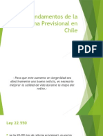 Fundamentos de La Reforma Previsional en Chile