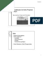 Classificação de Solos Tropicais - MCT