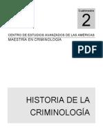 Antologia de Historia de La Criminologia