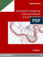 Atmospheric Modeling, Data Assimi