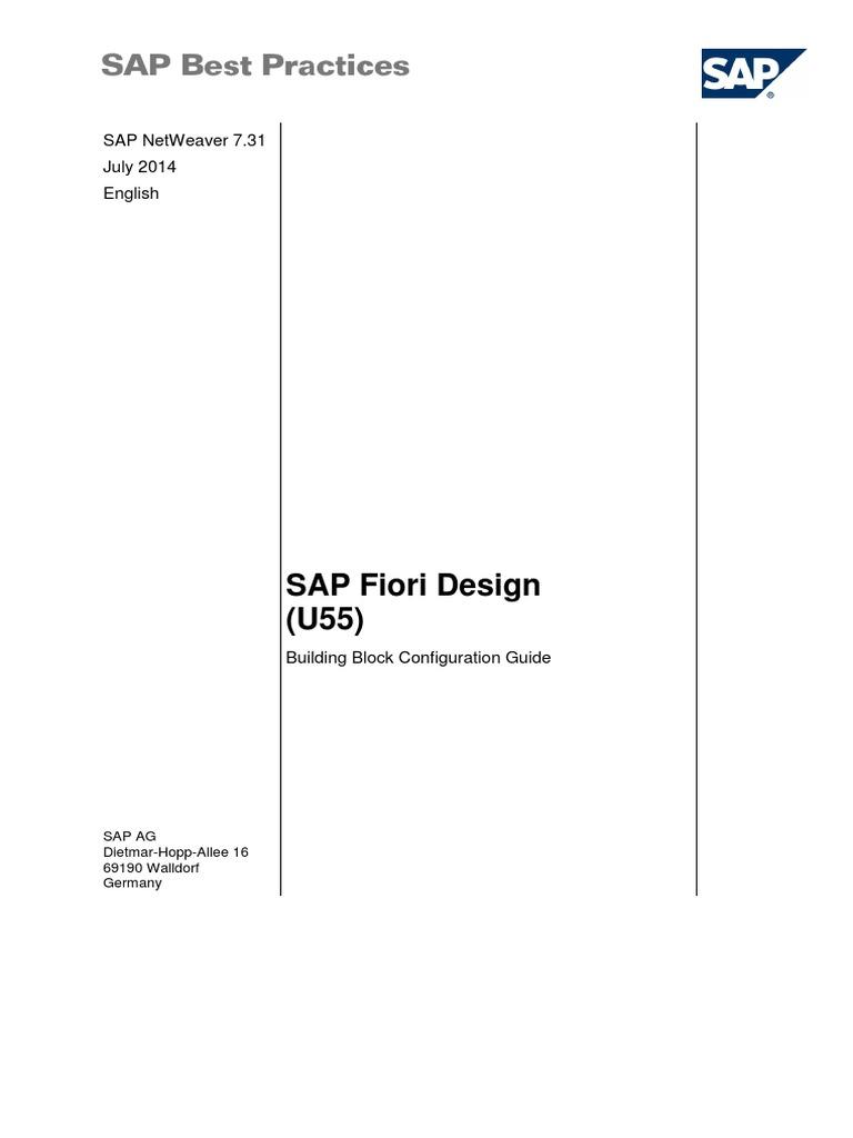 SAP Fiori Design Best Practice Guide | Mobile App | Business