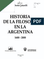 Historia de la filosofia en la argentina