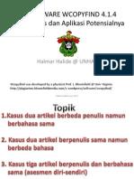 uji/testing detektif plagiasi wcopyfind