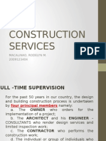 Construction Services and Construction Management