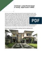 Rumah Mewah Banget - Lokasi Rumah Sangat Nyaman Dan Tenang - Dijual Cuman 14 Miliar - www.rumahku.com