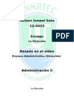 Ensayo - La Direccion