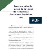Declaración Sobre La Formación de La Unión de Rep