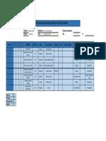 Tabla de Planificacion de Manejo de Materiales