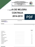 Plan de Mejora Bach. 2014-2015