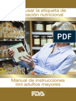 FDA Tabla de Alimentos