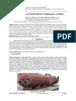 Implementation of Total Productive Maintenance on Boiler