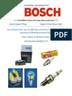 Bosch Sparkplug Catalog