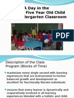 BLOCKS OF TIME - Day in a Kindergarten Class.ppt