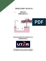 Physics I Lab Manual May 2015