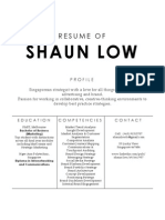 Shaun Low's Resume