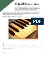 Cómo Leer TABLATURAS Para Piano