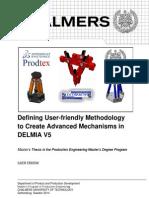 Advanced Mechanisms in DELMIA V5