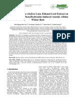 ajps-3-3-3Effect of Moringa oleifera Lam. Ethanol Leaf Extract on Hematology in Phenylhydrazine-induced Anemic Albino Wistar Rats