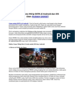 Daftar Game Mirip DOTA Di Android Dan IOS