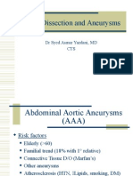 Aortic Dissection Aneurysms