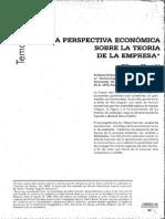 Una Perspectiva Económica Sobre La Teoría de La Empresa