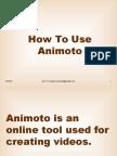 Animoto Tutorial