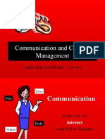 Communication and Conflict Management Nov 28