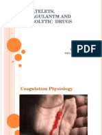 Antiplatelets, Anticoagulant