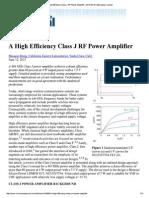 A High Efficiency Class ...-15 _ Microwave Journal