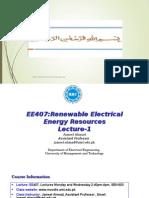 L1 JAMEEL EE407 Renewable Energy Systems