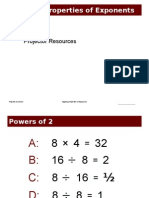 slides  applying properties of exponents