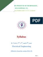 B.tech Syllabi May 12 2015