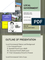 History of Local Government Units in the Philippines
