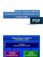 Early Invasive Versus Initial Conservative Strategies in Ua
