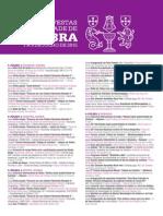 Festas Da Cidade De Coimbra 2015| programa Oficial