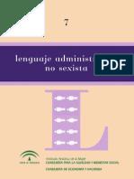 Manual Lenguaje No Sexista Andalucía