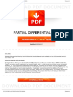 Partial Differential Solution Manual