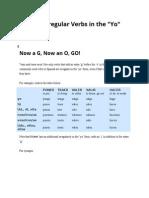 Spanish Irregular Verbs in the YO Form