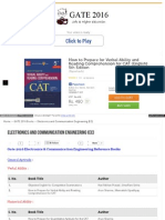 Gate-2016 Electronics and Communications books list