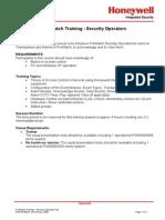 ProWatch Training - Security Operators